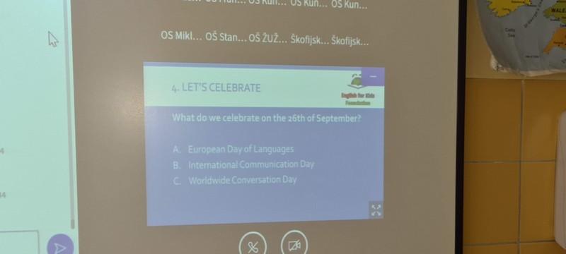 Kviz ob evropskem dnevu jezikov